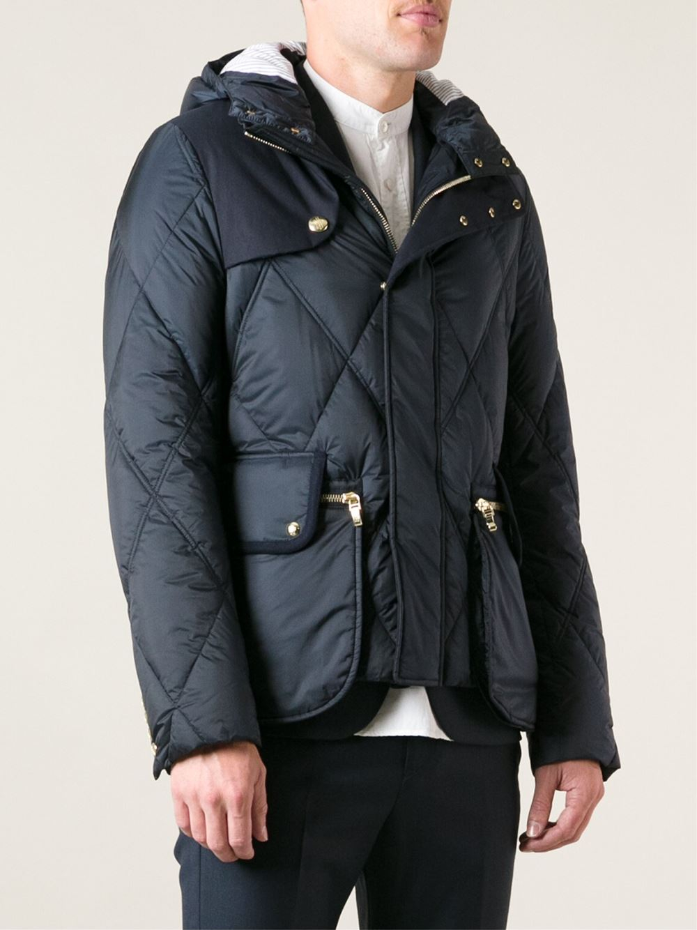 987d15bb6 Lyst - Moncler Gamme Bleu Quilted Feather Down Jacket in Blue for Men