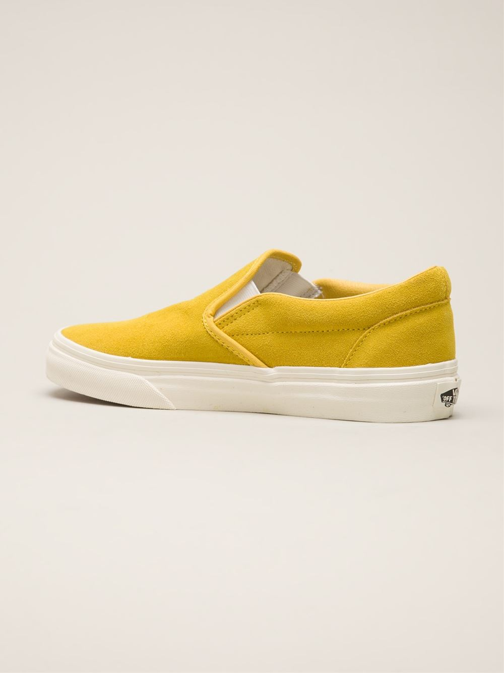 Vans Classic Slip On Trainers in Yellow