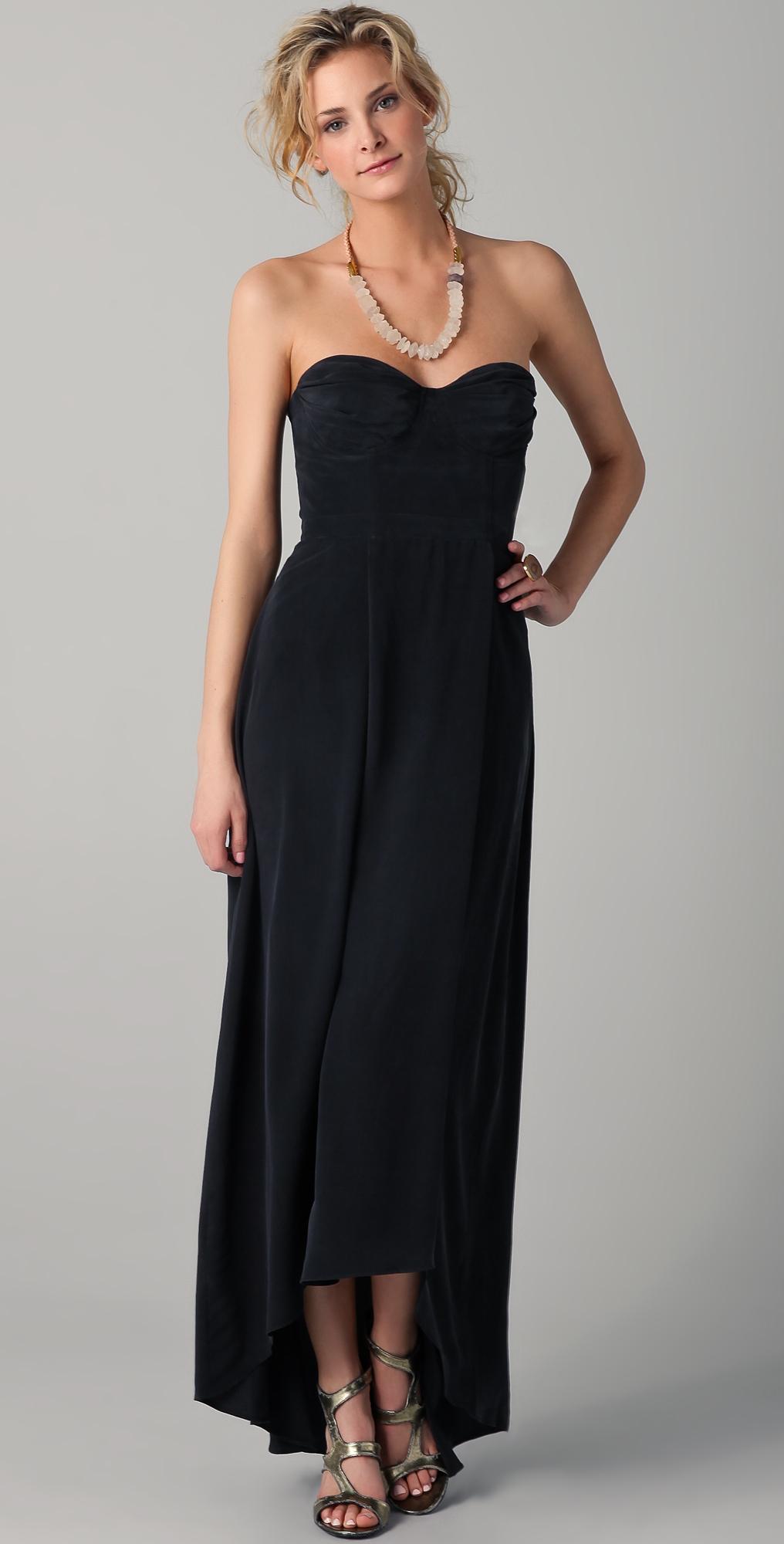 Zimmermann Strapless Underwire Long Dress In Black Lyst