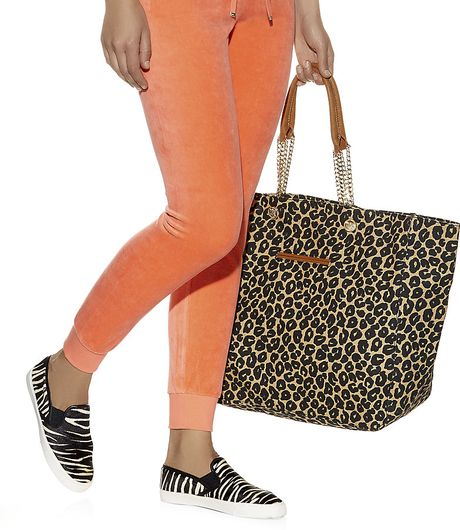 Juicy Couture Leopard Beach Tote Bag In Animal
