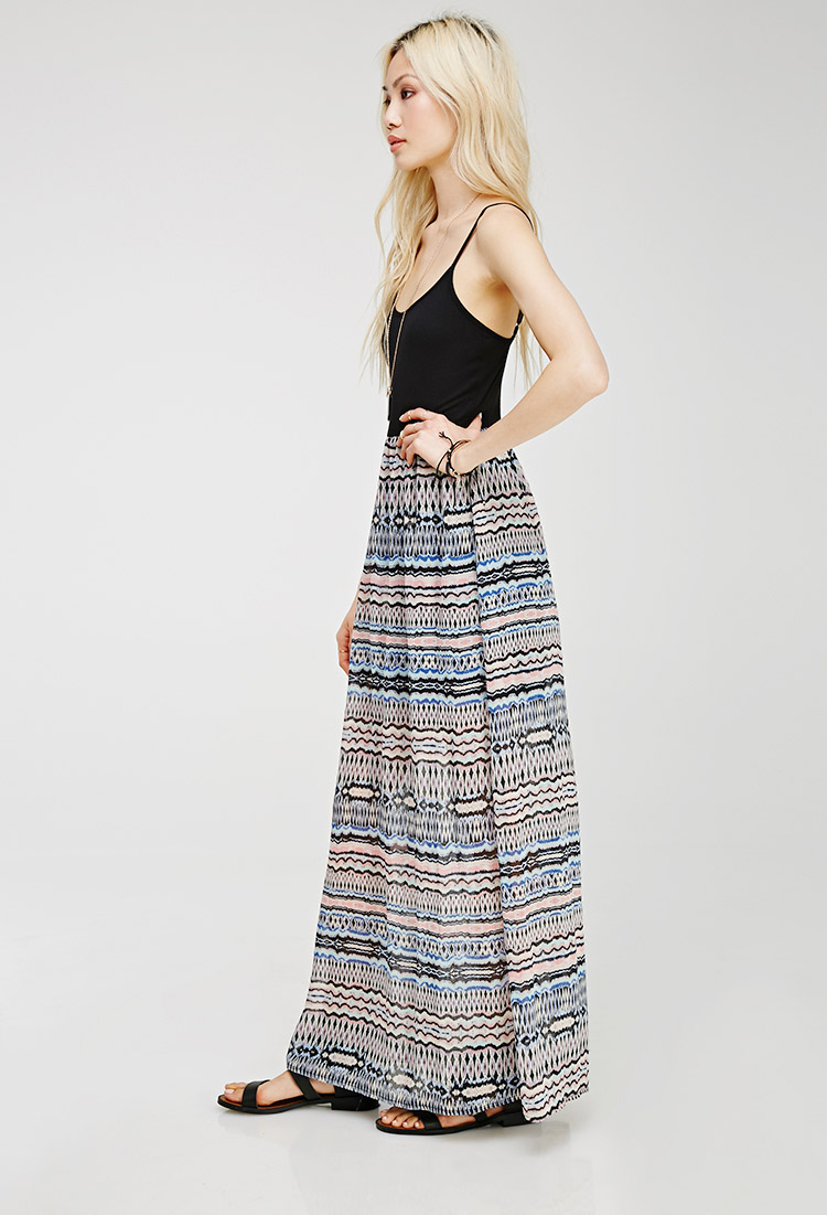 49c8514dc Forever 21 Tribal Print Combo Maxi Dress - Lyst
