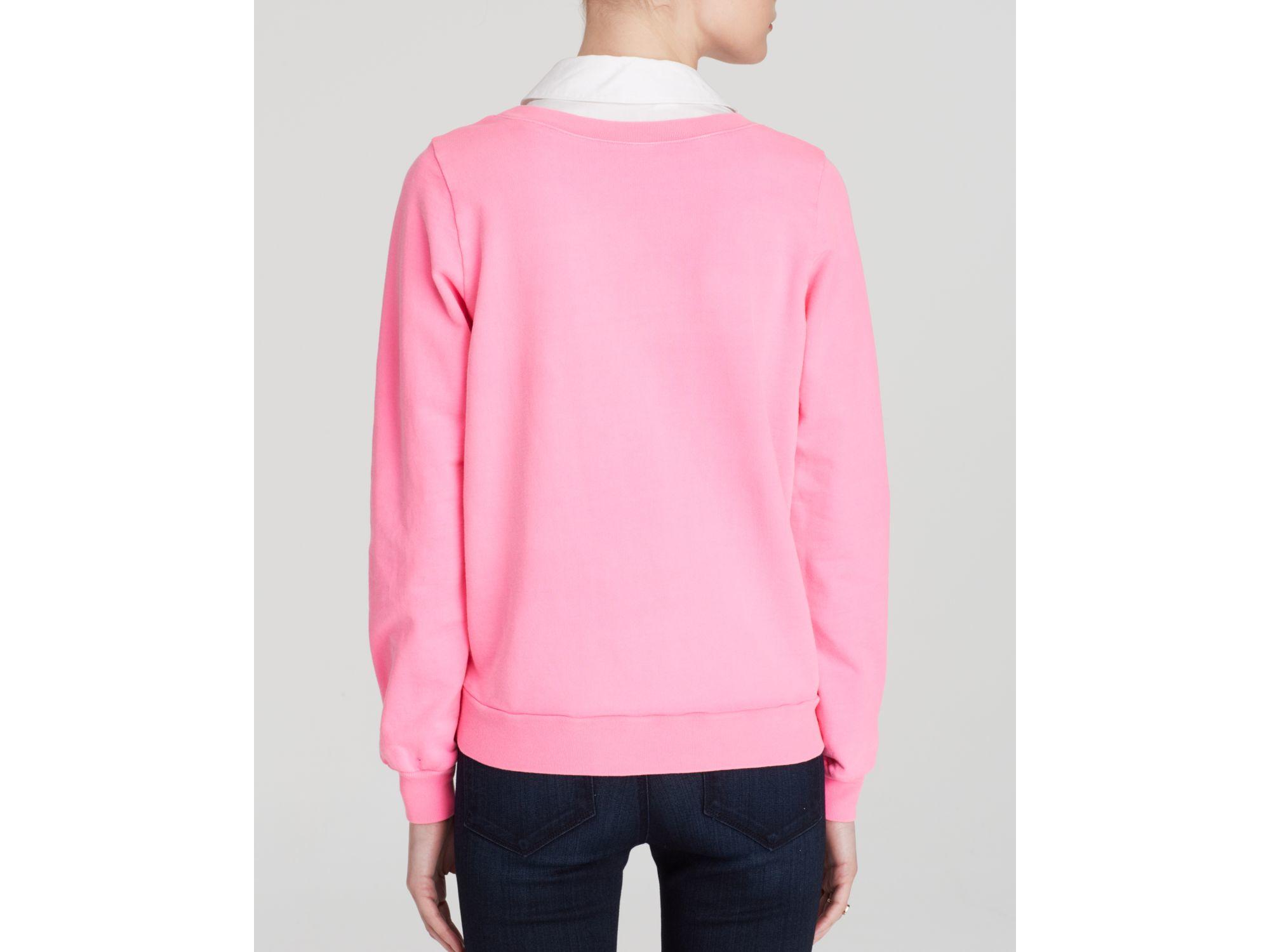 Clu too Sweatshirt - Collar in Pink | Lyst