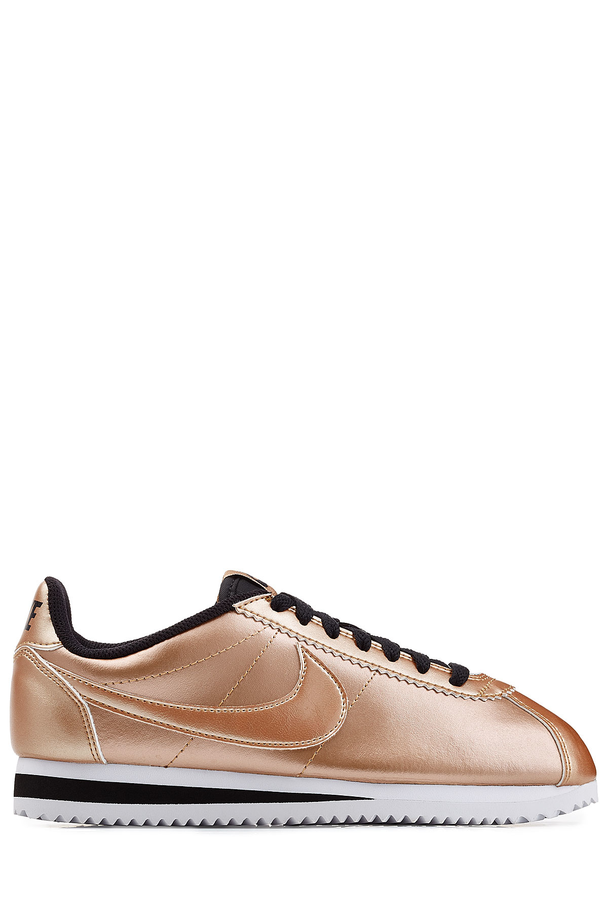 7e36f5565c ... discount lyst nike classic cortez metallic leather sneakers rose in  pink 7a750 397a2