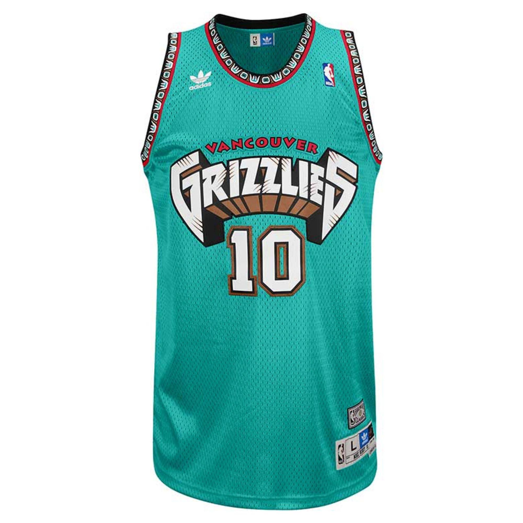 6aa4477b242 adidas Mens Mike Bibby Vancouver Grizzlies Retired Player Swingman ...