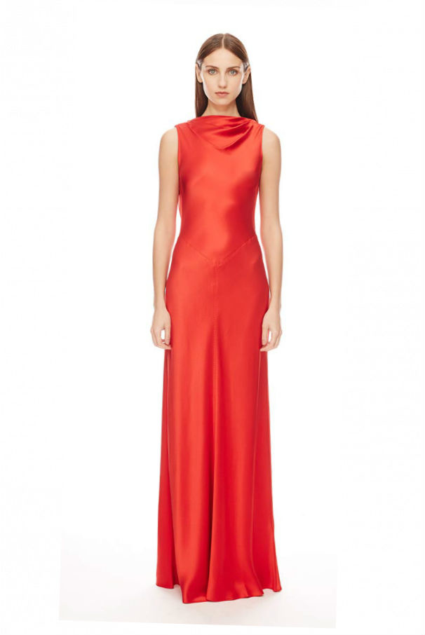 Amanda Wakeley Asayva Lipstick Silk Gown In Red Lyst