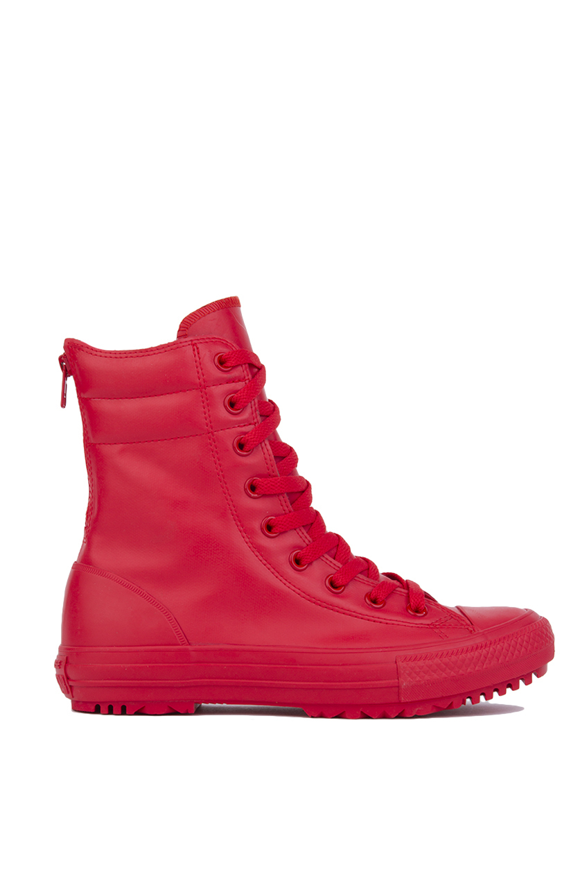 23817e1c41890e Lyst - Converse Chuck Taylor All Star Hi-rise Rubber Boots - Red in Red