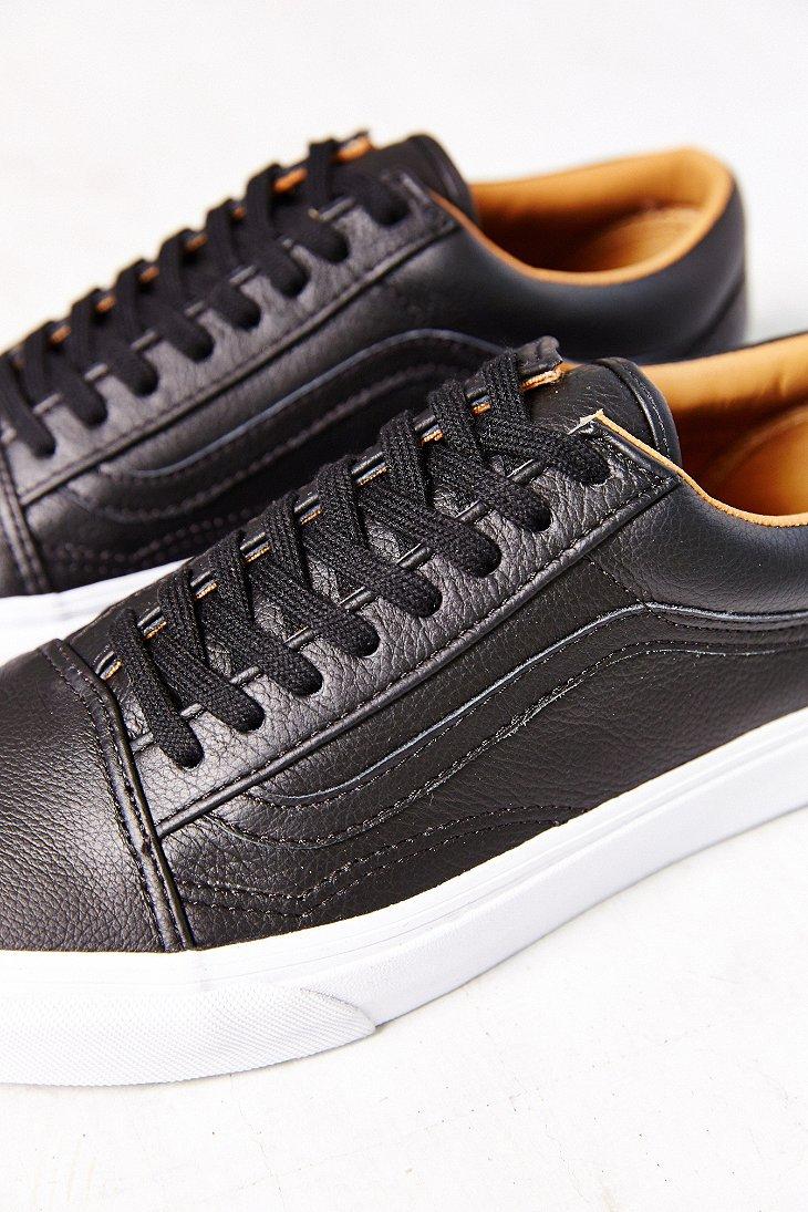 4ff8e50b47b Lyst - Vans Old Skool Premium Leather Low-Top Women S Sneaker in Black