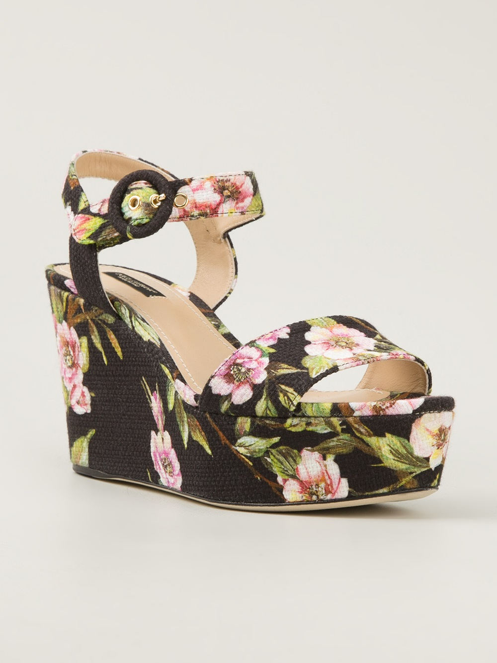 high quality cheap online sale online shopping Dolce & Gabbana floral wedged sandals JPMYz