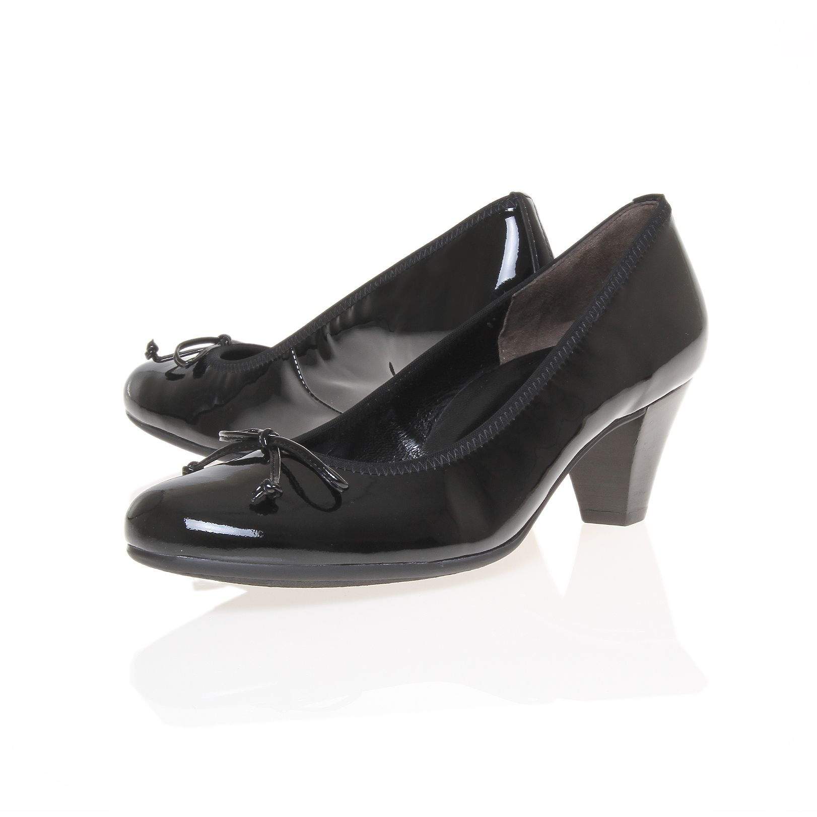 paul green rachel court shoes in black lyst. Black Bedroom Furniture Sets. Home Design Ideas