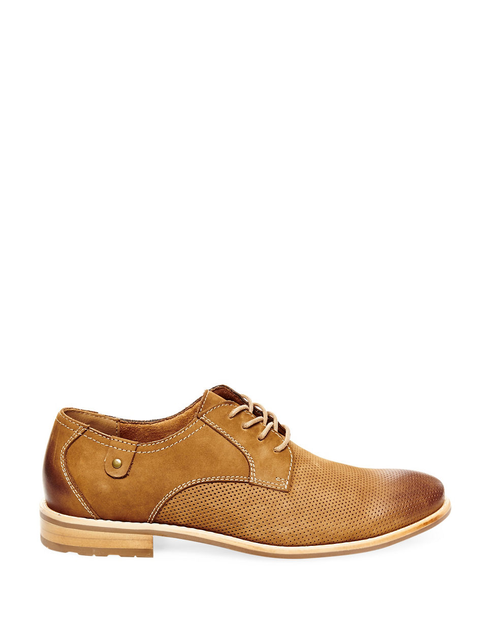 Steve Madden Capturr Perforated Leather Derby Shoes