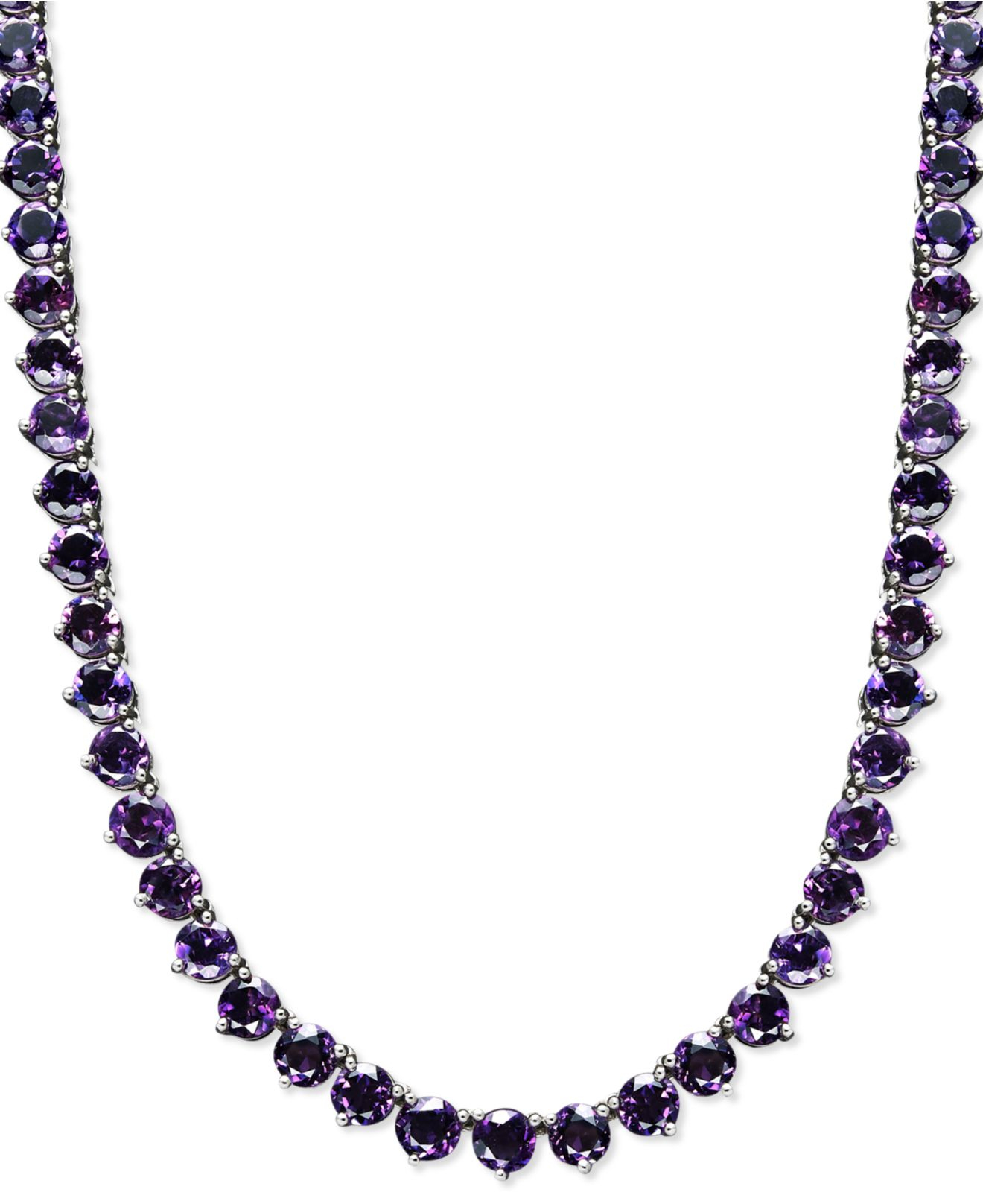 Macy's Sterling Silver Necklace, Amethyst Necklace (30 Ct ...