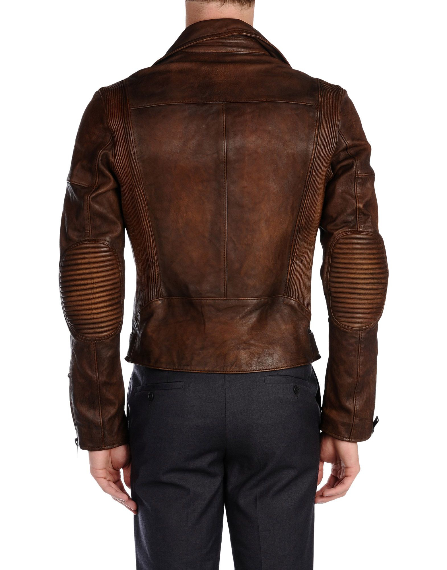 lyst ralph black label jacket in brown for