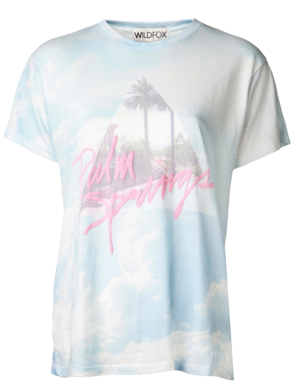 Wildfox palm springs t shirt lyst for T shirt city palm springs