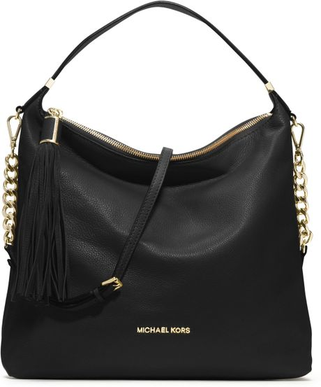 michael michael kors large bedford tassle shoulder bag. Black Bedroom Furniture Sets. Home Design Ideas