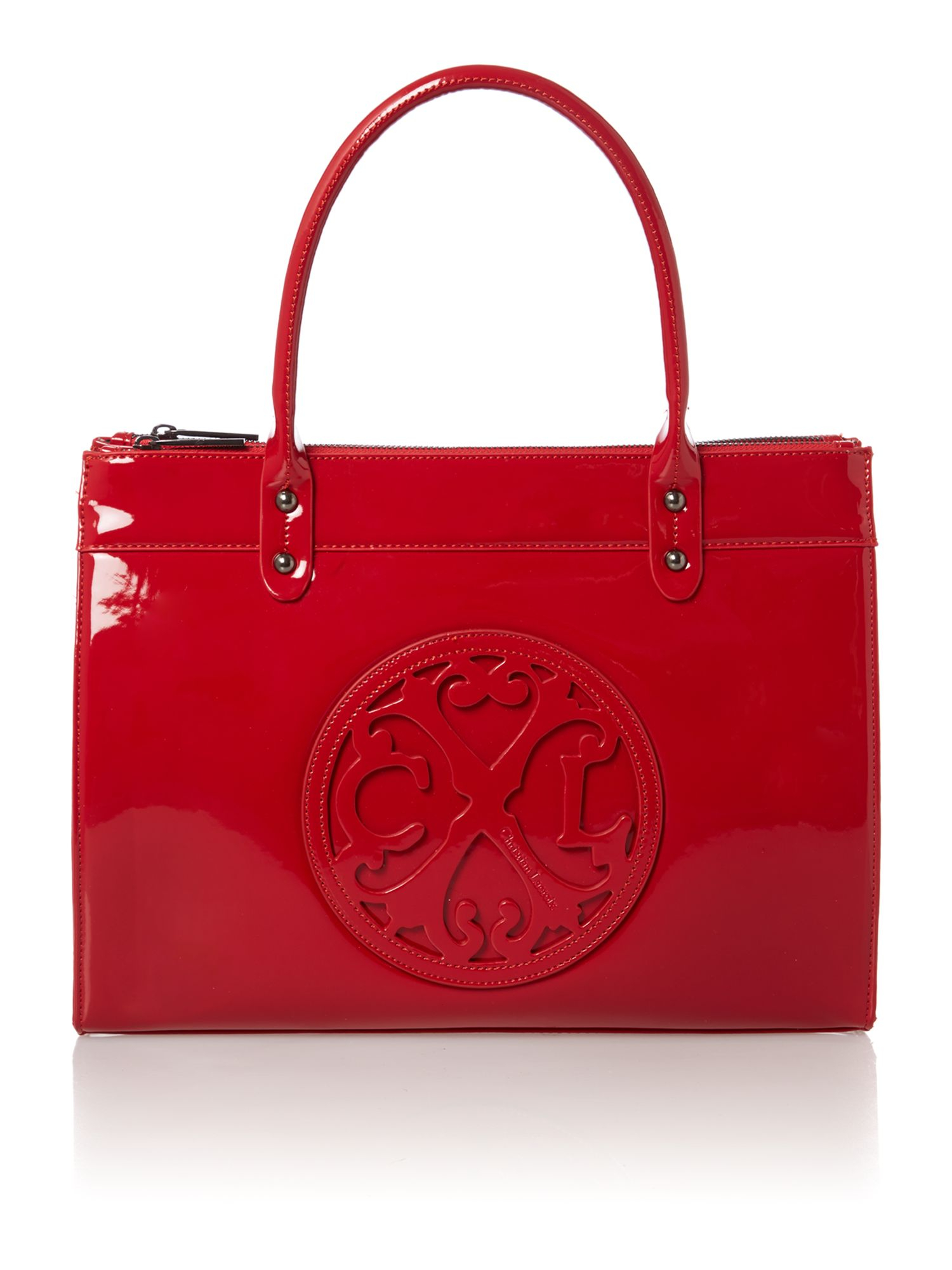Christian Lacroix Jonc Red Patent Tote Bag in Red