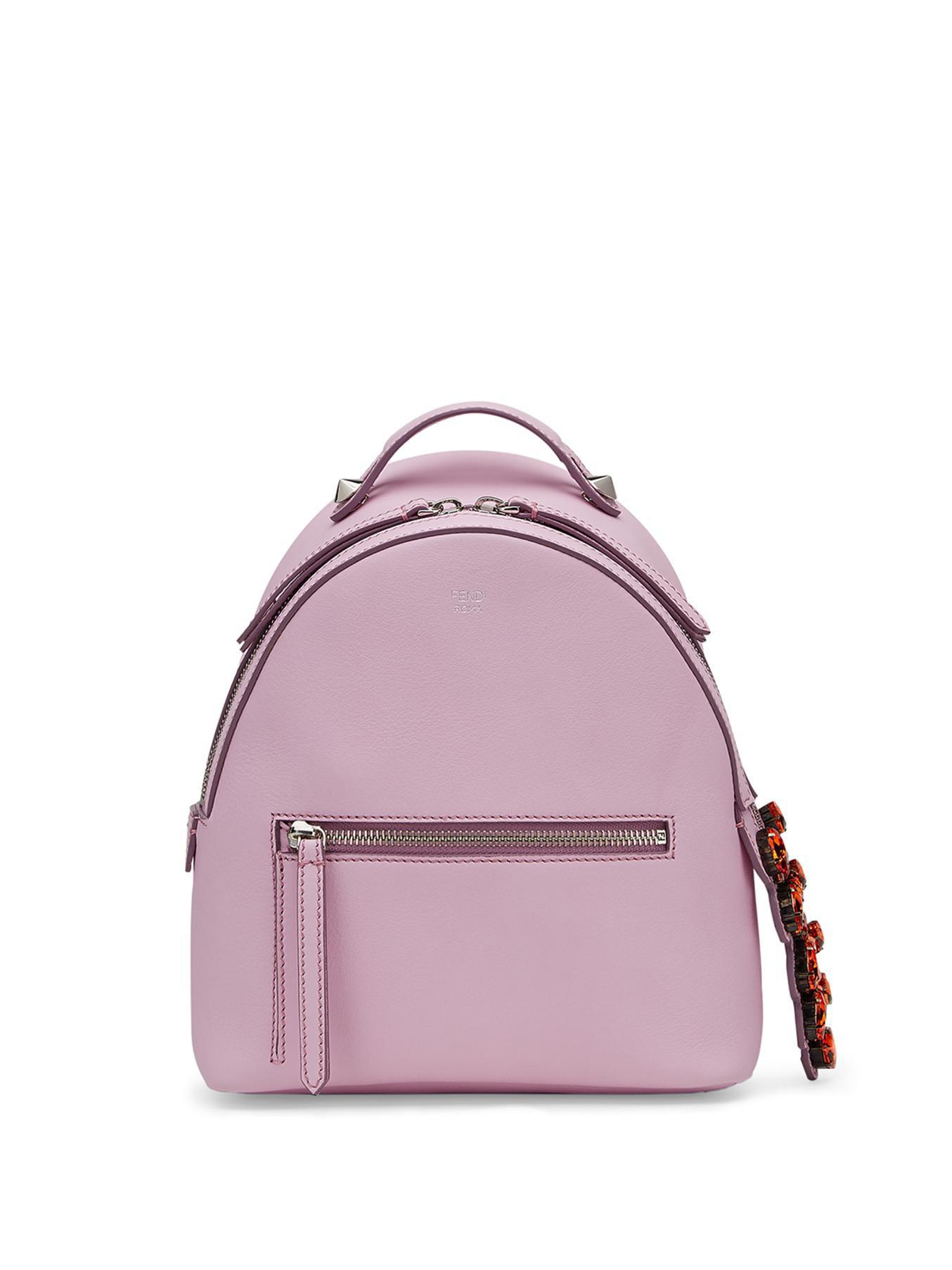 4a327ca45161 Lyst - Fendi Swarovski Crystal-Embellished Mini Backpack in Purple