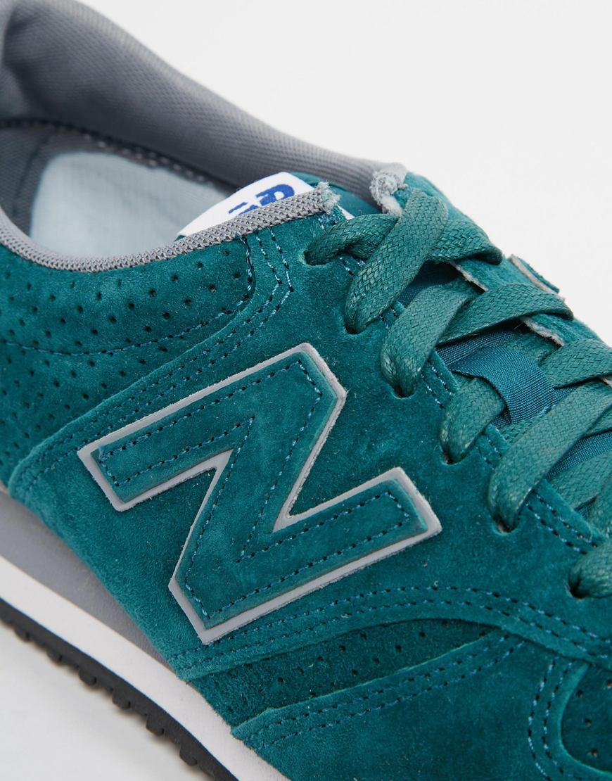 new balance 420 green suede boots