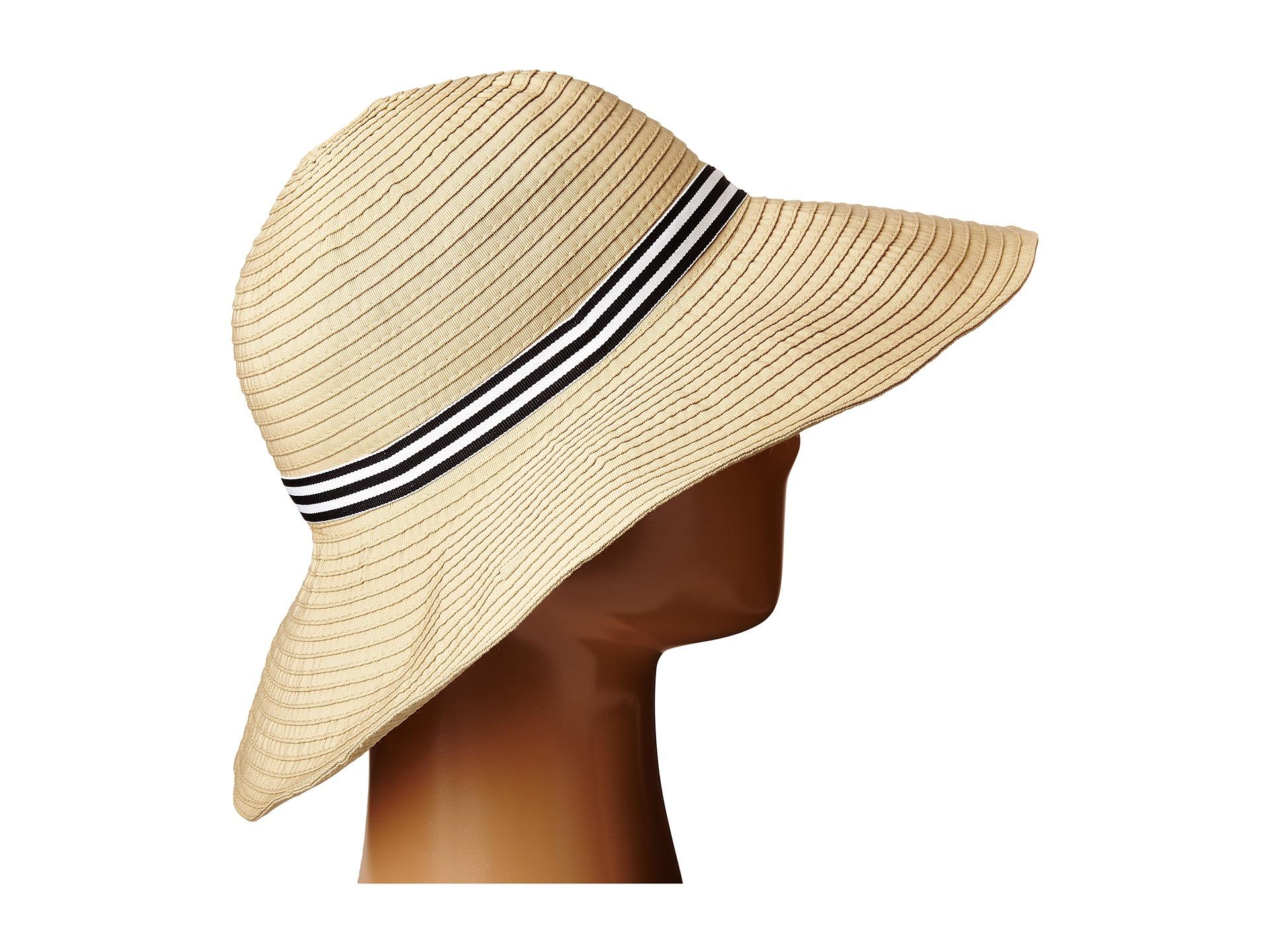 Lyst - Lauren by Ralph Lauren Poly Signature Grosgrain Sun Hat a11ab488282c