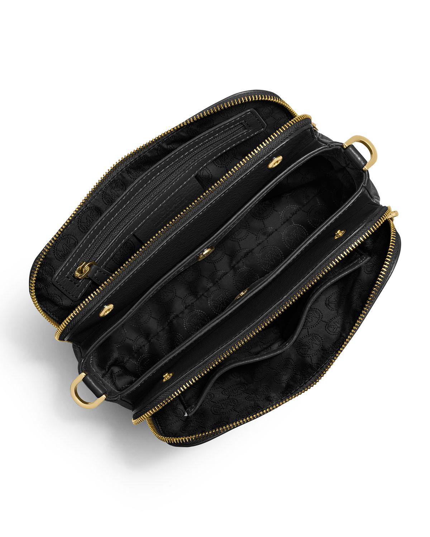 014ebb58662cd ... cheap lyst michael michael kors bedford medium double zip messenger bag  6555f 9a947