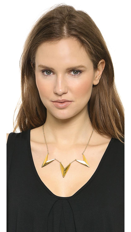 Rebecca Minkoff Triple V Necklace