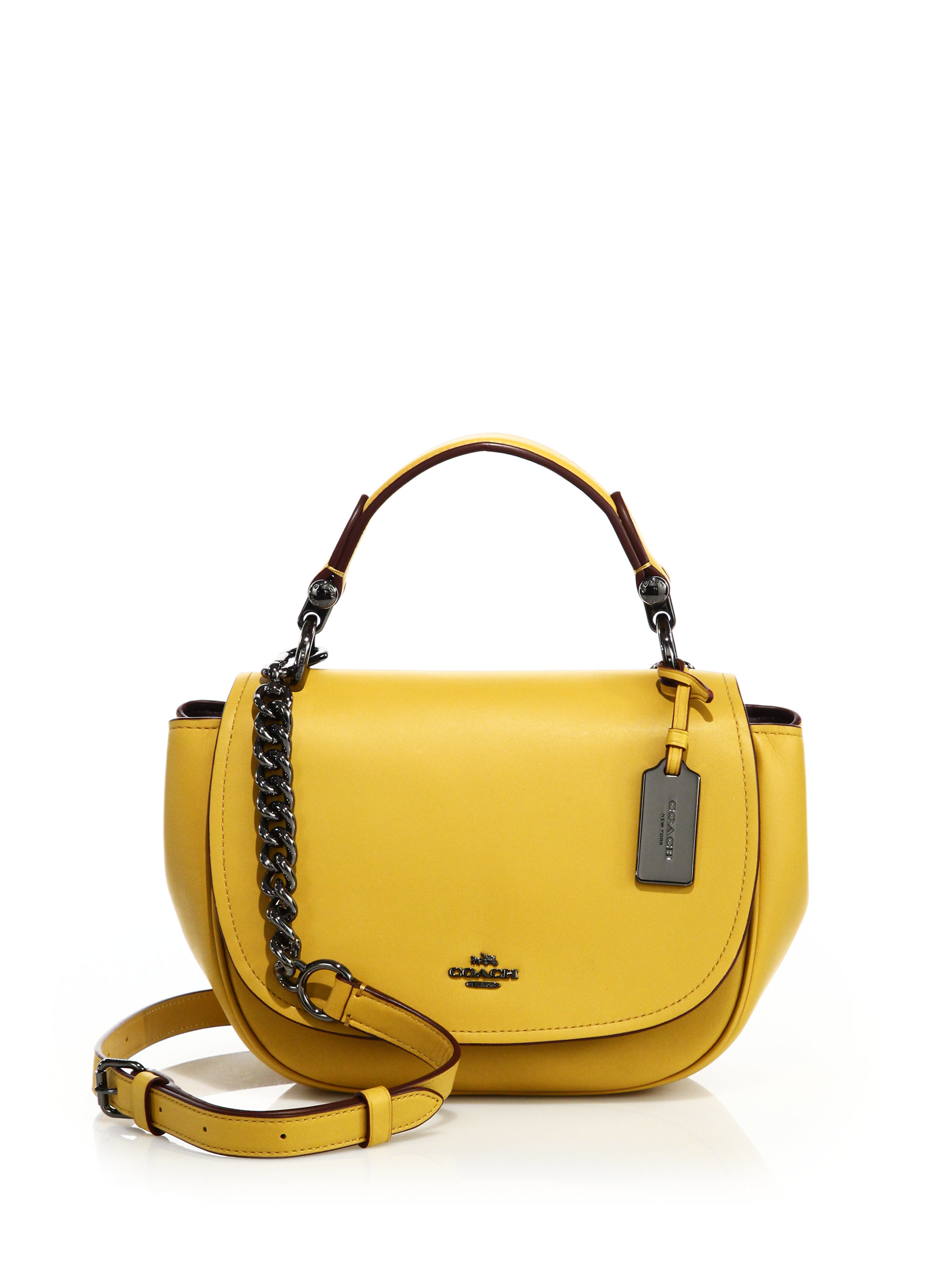 Coach Nomad Leather Crossbody Bag In Yellow Lyst