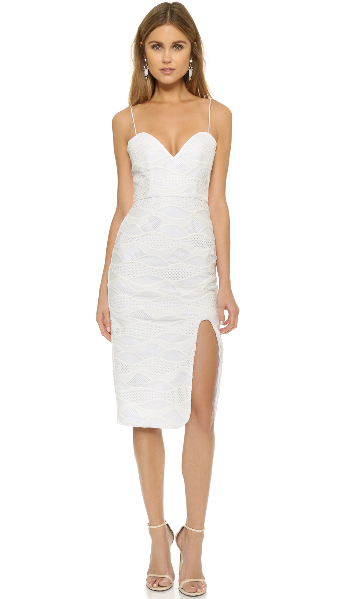 Nicholas Wave Lace Sweetheart Dress in White - Lyst