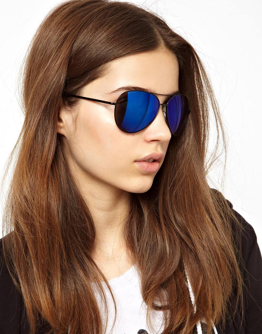 ray ban aviator blau flash