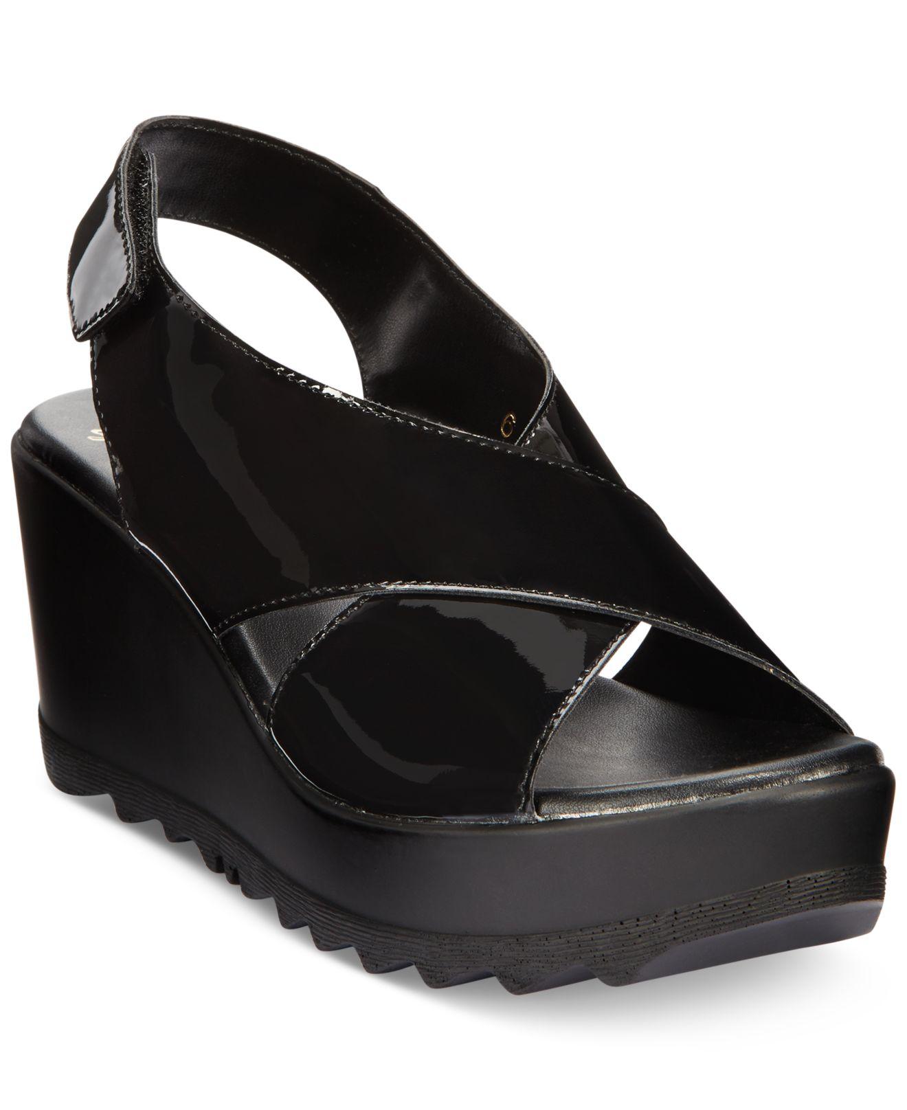 lyst callisto torro platform wedge sandals in black
