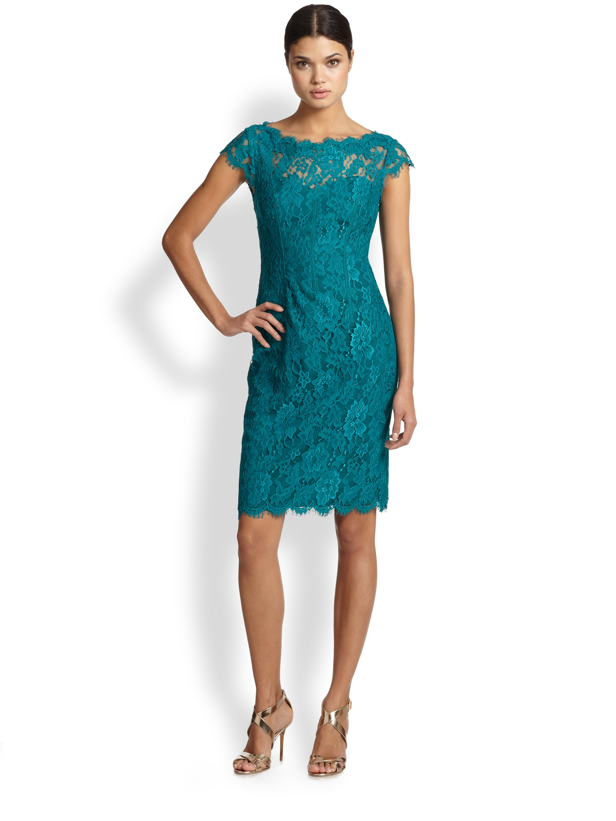 Teal Lace Gowns