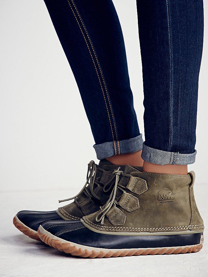 Free People Sorel Womens Out N About Weather Boot In Gray