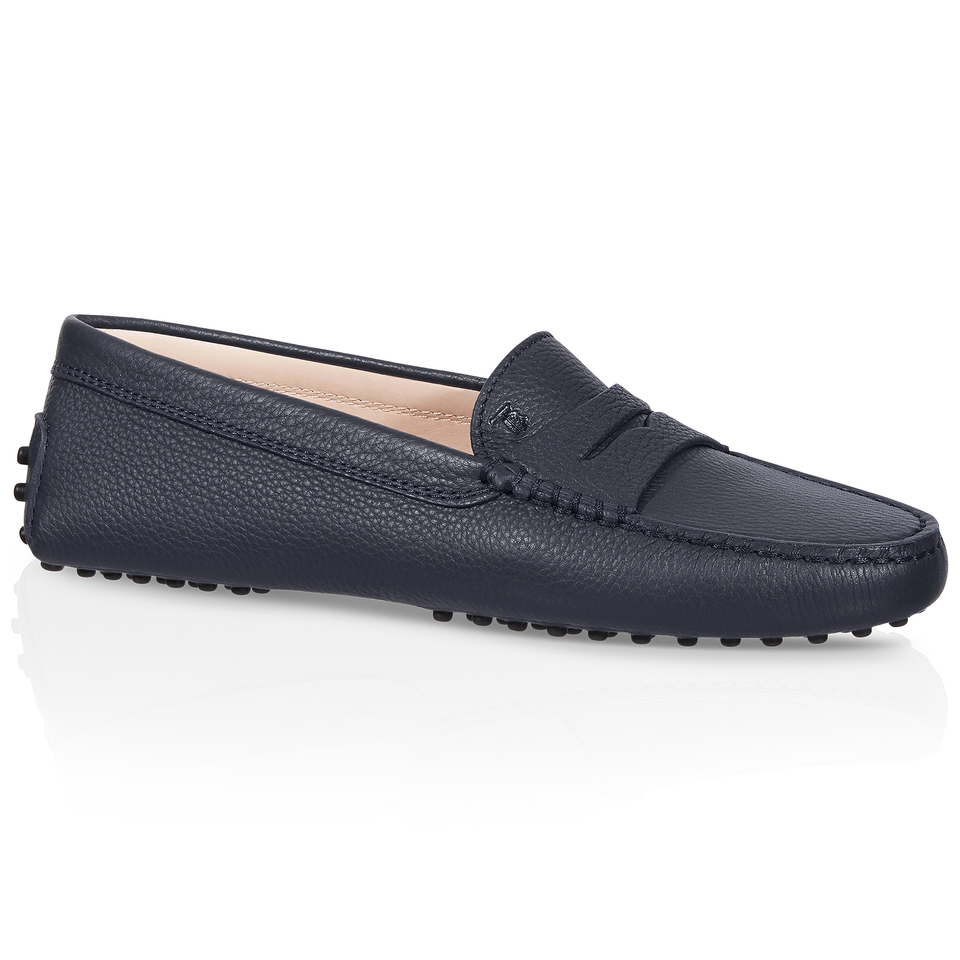 tod s gommino driving shoes in leather in blue lyst