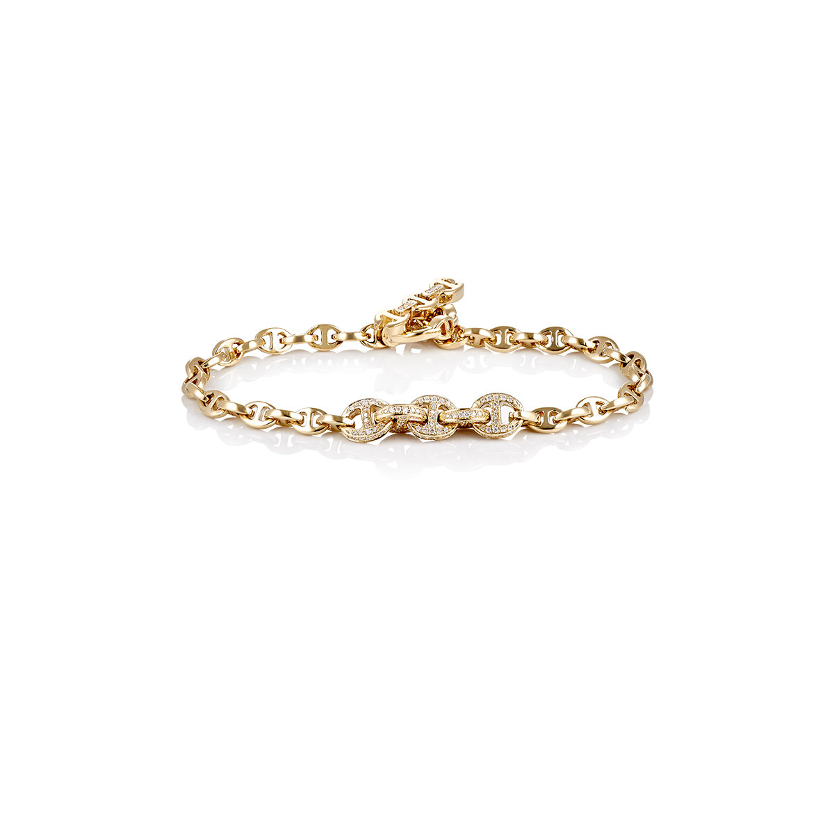Hoorsenbuhs Womens Tri-Link-Chain Bracelet uUAtYsqW3