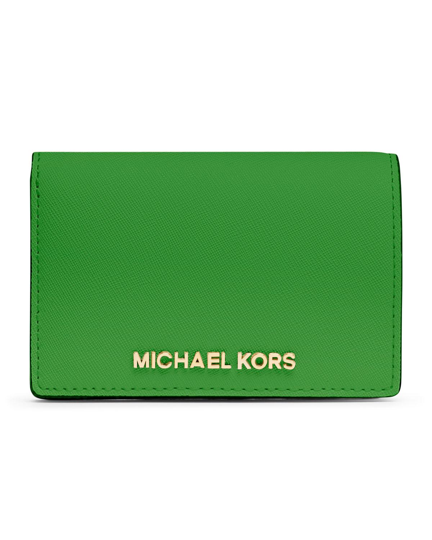 michael michael kors medium jet set travel slim wallet in. Black Bedroom Furniture Sets. Home Design Ideas