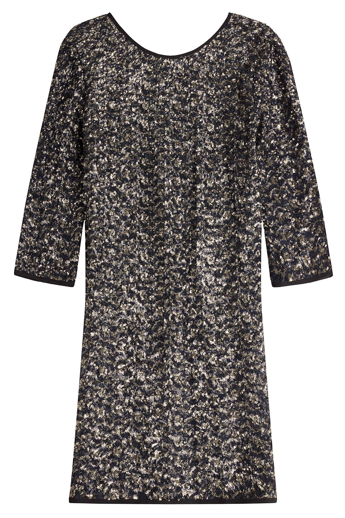 Zadig &amp- voltaire Sequin Dress - Multicolor in Black - Lyst