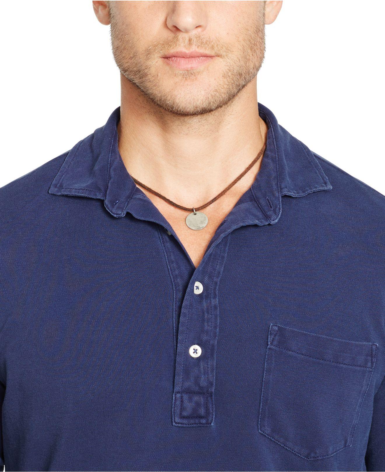 e73b070eea8 Lyst - Polo Ralph Lauren Featherweight-Mesh Estate Shirt in Blue for Men