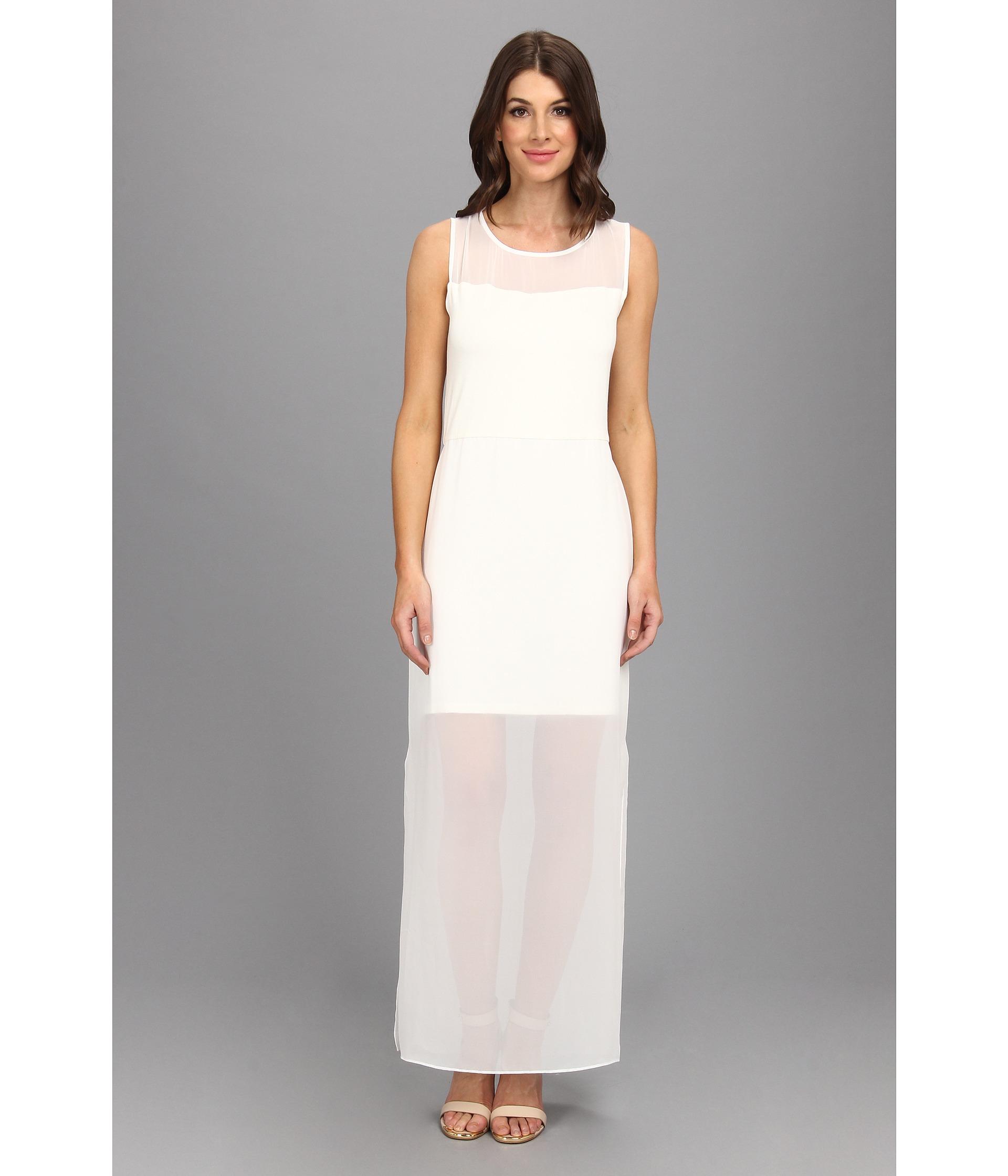 Vince Camuto Chiffon Overlay Dress