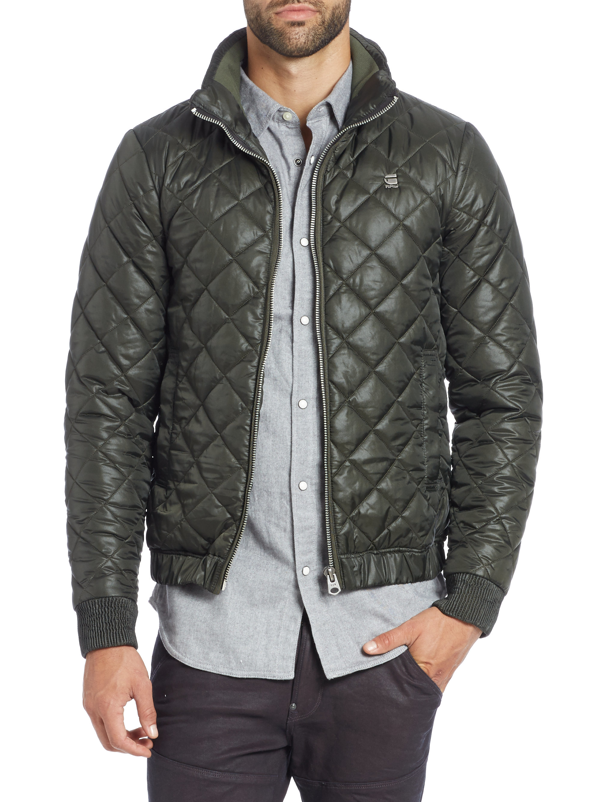 G-star raw Meefic Quilted Jacket in Green for Men | Lyst