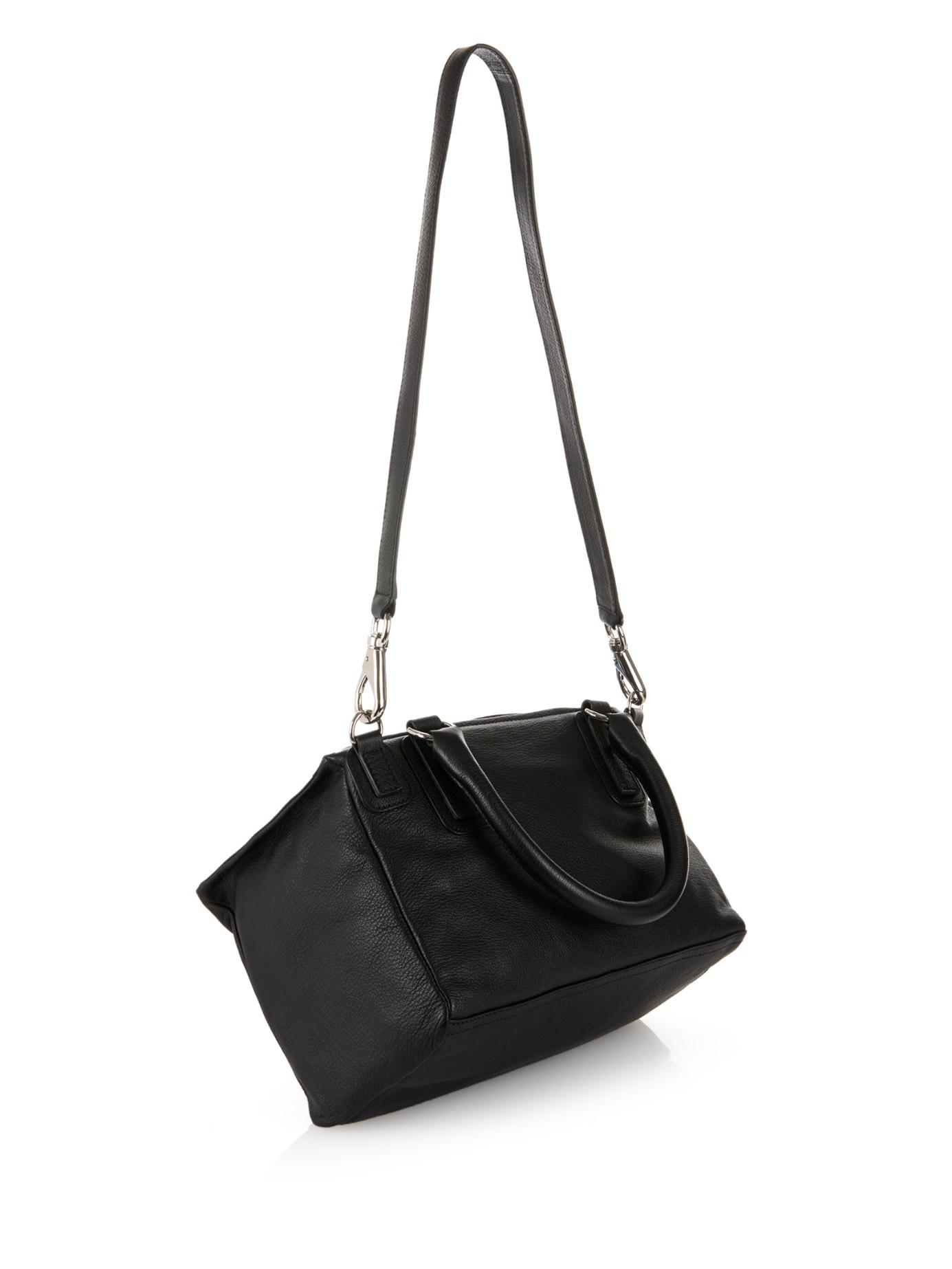 ac806662c706 Lyst - Givenchy Pandora Medium Sugar-leather Bag in Black