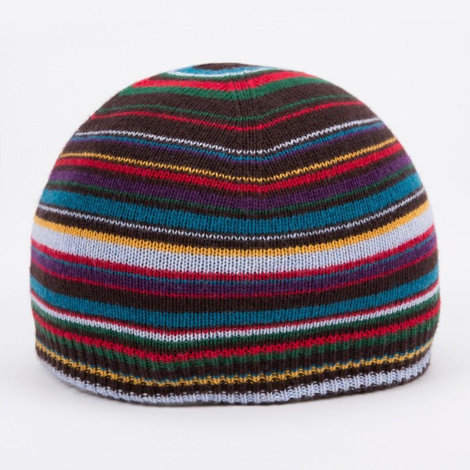 e84ca4e1e7742 Paul Smith Men s Signature Stripe Wool-blend Beanie Hat for Men - Lyst