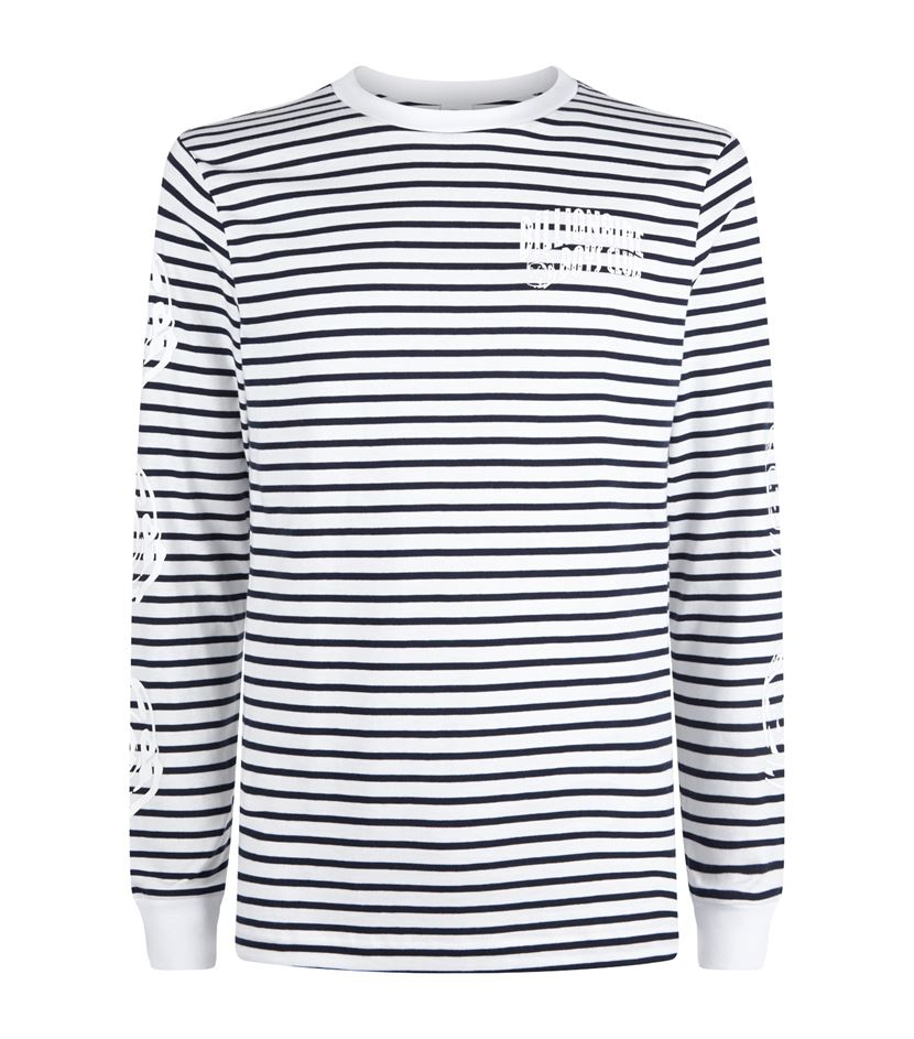 1f8495da031 BBCICECREAM Striped Astro Head Long Sleeve T-shirt in Gray for Men ...