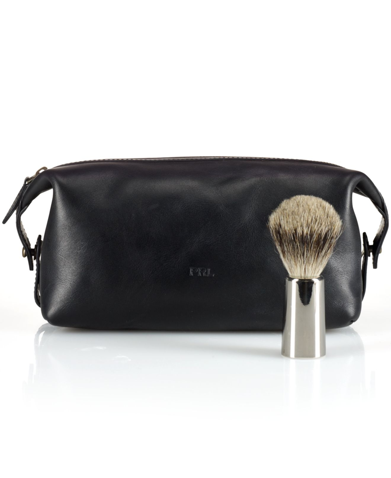 4c68ecd5970b ... authentic lyst polo ralph lauren leather shaving kit in black for men  6d2ec 4a79a ...