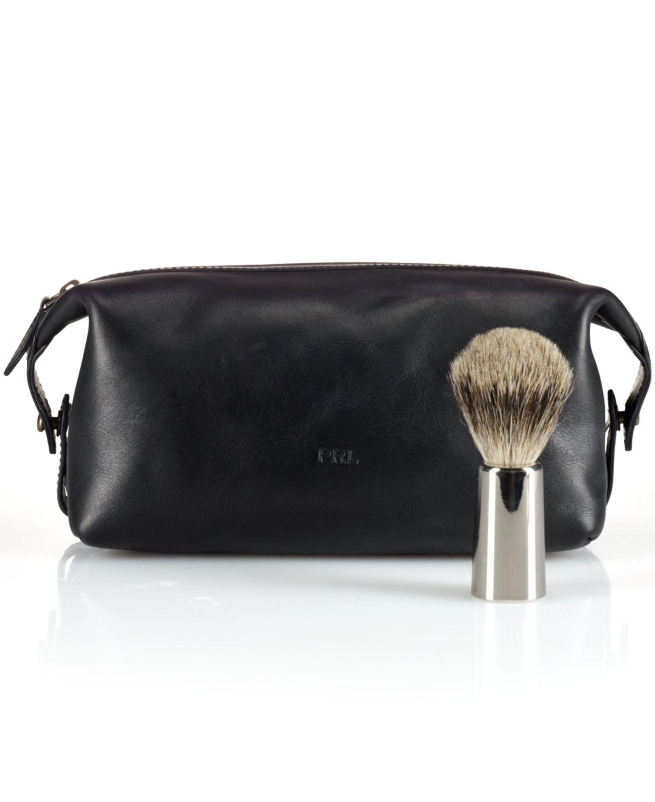 Lyst - Polo Ralph Lauren Leather Shaving Kit in Black for Men e3f2515433ca1