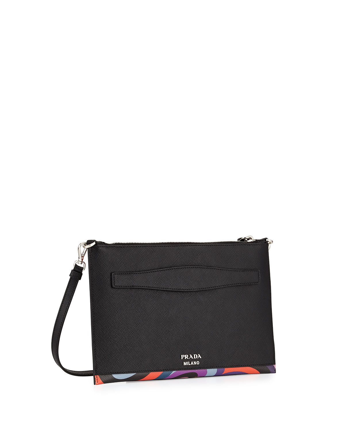 Prada Saffiano Lipstick-print Clutch Bag in Multicolor (MULTI ...