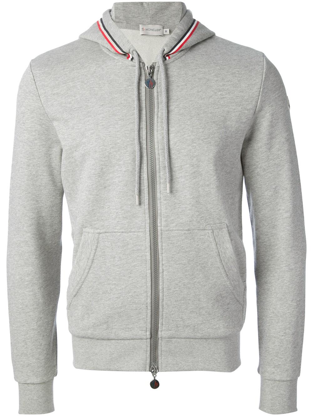 moncler grey zip up