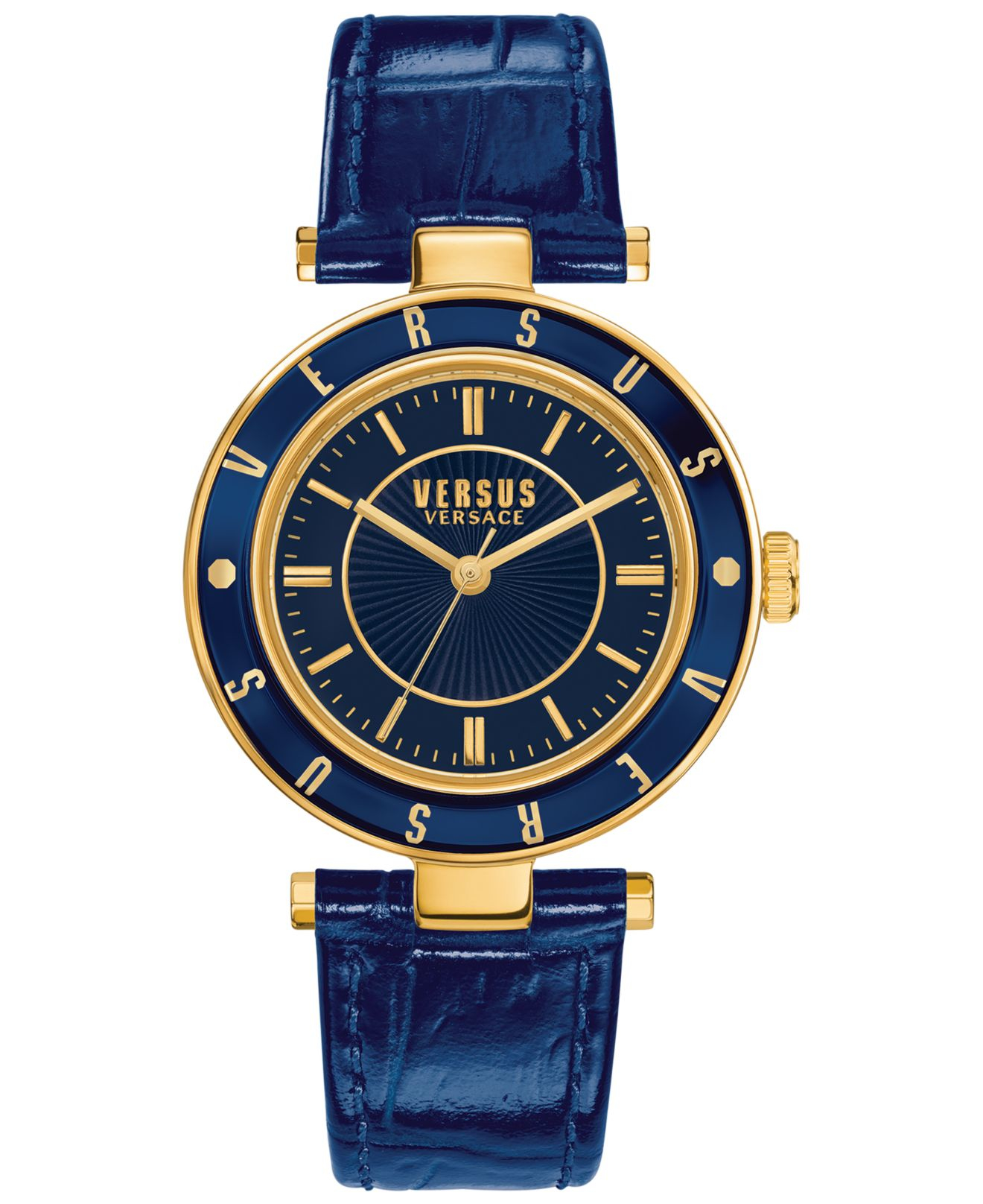 versus s blue leather 34mm sp8140015 in