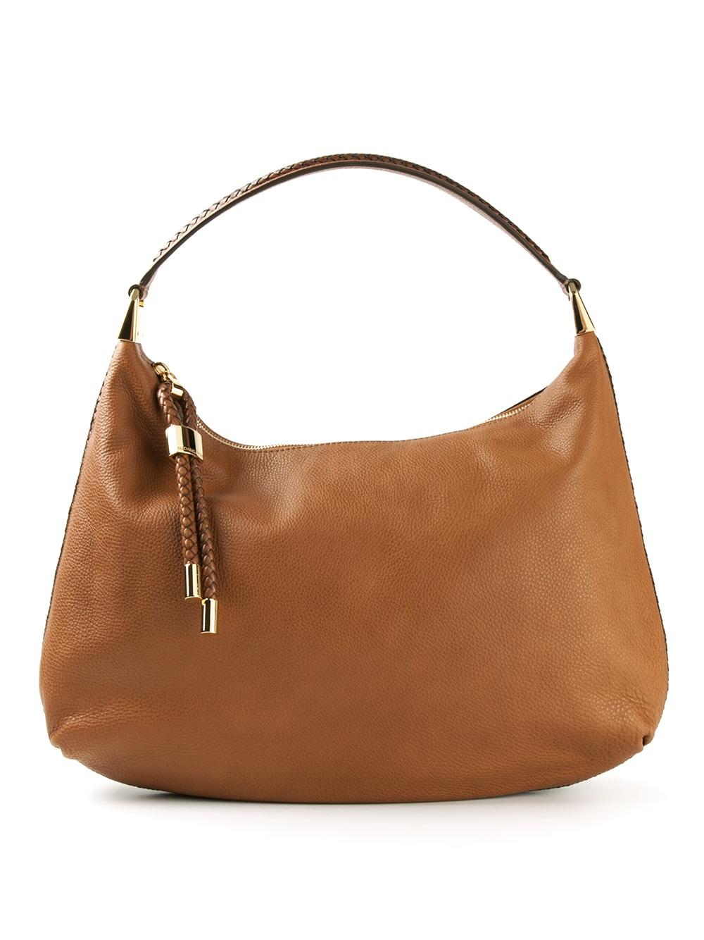 51615ed093e4 Michael Kors Skorpios Hobo Shoulder Bag in Brown - Lyst
