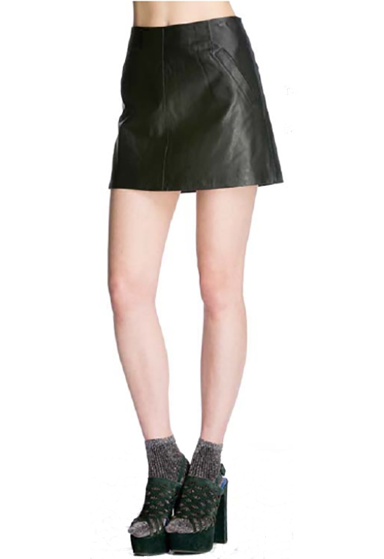 bb dakota ian leather mini skirt in black in black lyst