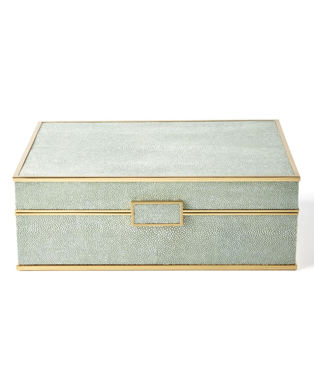 Lyst Aerin Shagreen Jewelry Box in Green