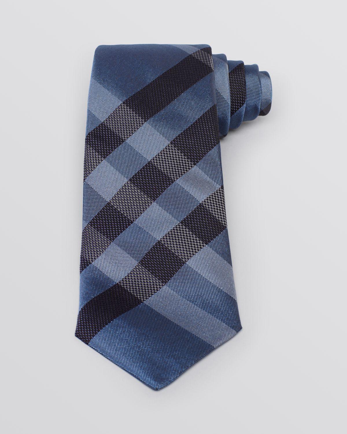 burberry regent check classic tie in blue for
