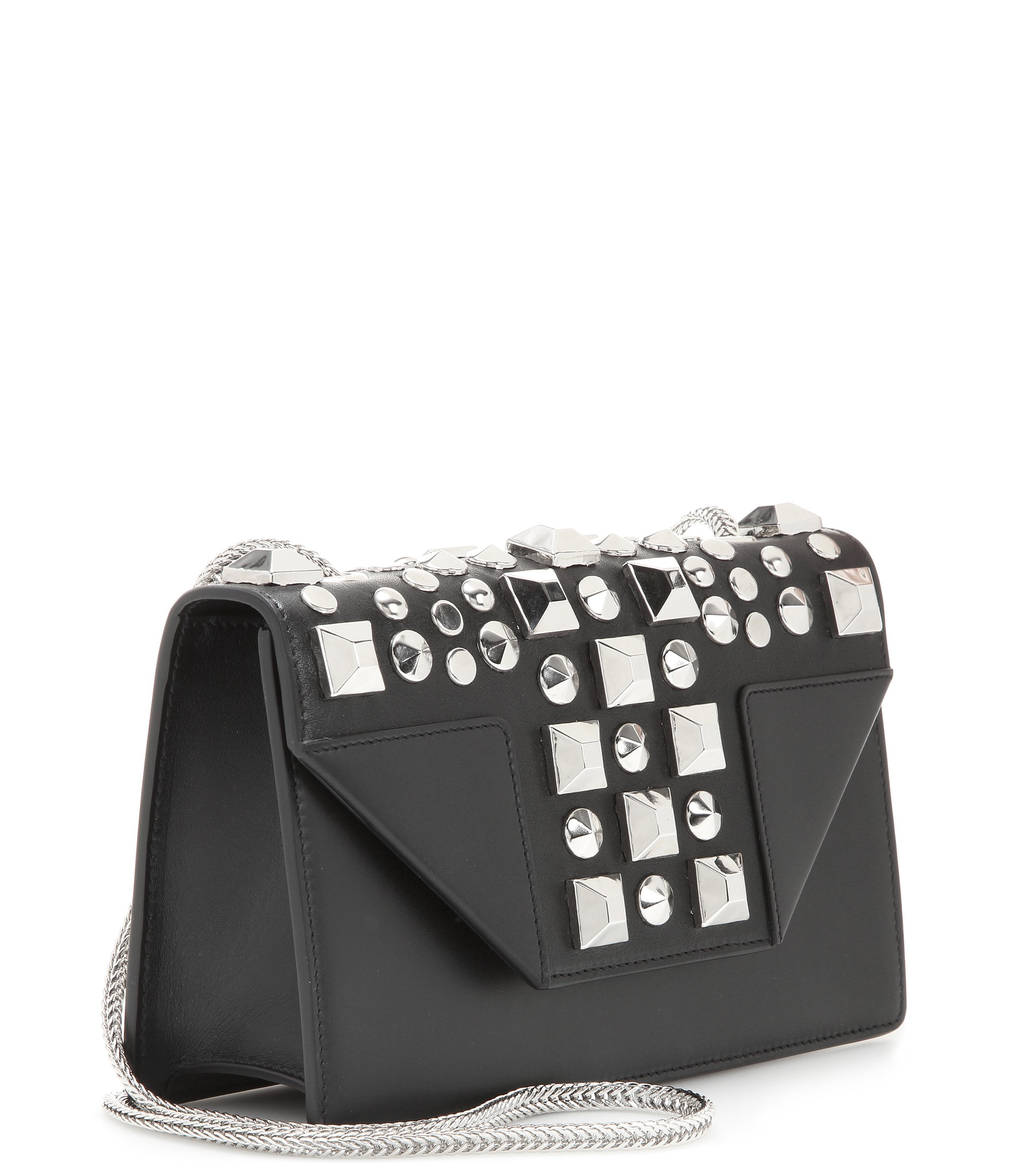 tags for handbags - classic small betty bag in black suede and leather